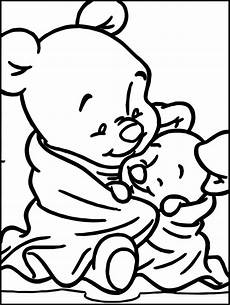 baby winnie the pooh baby piglet coloring page