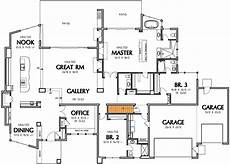 single story modern house plans single story contemporary house plan 69402am