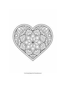 mandala coloring pages hearts 17922 s day coloring pages free printable pdf from primarygames