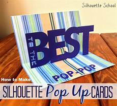 pop up card tutorials and templates basic silhouette pop up card tutorial free studio pop up