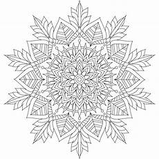 winter mandala coloring pages at getdrawings free