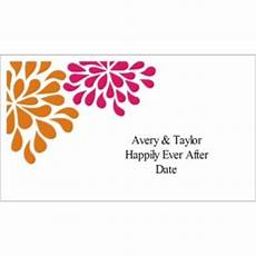 avery business card template 8877 templates wedding shower pink orange flowers on