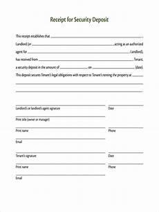 security deposit receipt template free 8 deposit receipt exles sles in docs
