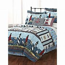 lighthouse sailboat nautical comforter 3 piece bed in a bag ebay