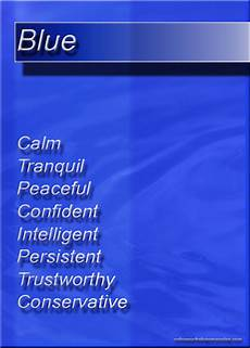 Blue Color Color Psychology Personality Meaning