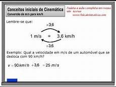 Km To H by Convertendo De M S Para Km H E Vice Versa