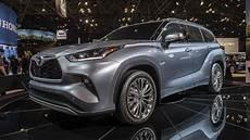 toyota new highlander 2020 2020 toyota highlander look new york auto show