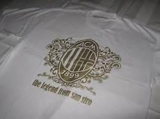 Kaos Liverpool Hitam Sablon Gold oblong bola ac milan putih