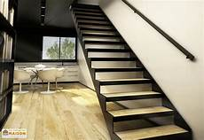escalier bois droit limons tokyo pour escalier droit en acier 281 224