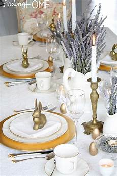 Decorations For Table by Vintage Brass And Lavender Easter Tablescape Finding