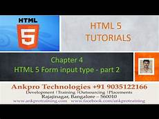 html 5 chapter 4 html 5 form input types search tel url range email part 2 youtube