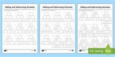 decimal worksheets twinkl 7312 adding and subtracting decimals worksheets ks2 maths twinkl