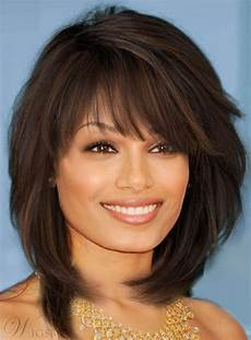 sweet layered bob hairstyle mid lenght straight capless synthetic wigs 14 inches wigsbuy com