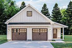 modern farmhouse detached garage with pull down stairs 62843dj architectural designs house