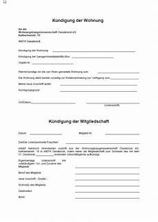 Generalvollmacht Ohne Notar Muster - kuendigung der wohnung und mitgliedschaft wgo osnabr 252 ck