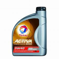 huile moteur total activa 9000 diesel 5w40 2l feu vert