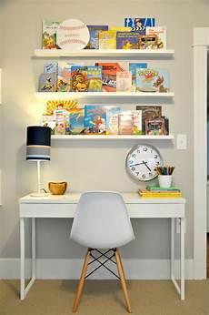 kid room book ledges ikea besta burs desk and white