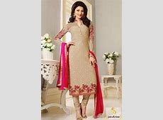 Bollywood Actress Urvashi Rautela #Cream Designer Salwar