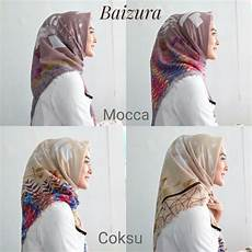 Modis 40 Jilbab Segi Empat Motif Bendera