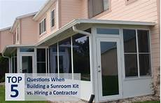 sunroom prices deciding between buying a sunroom kit or a hiring a