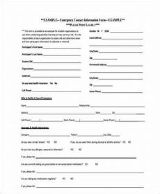free 8 contact form exles in pdf word