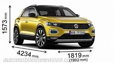 Volkswagen T Roc 2018 Dimensions Boot Space And Interior