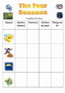 seasons exercises worksheets 14790 the four seasons esl worksheet by julie68