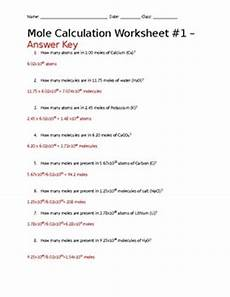 mole calculation with avogadro s number worksheet