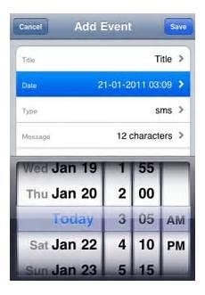programmer l envoi d un sms automatique sur iphone et