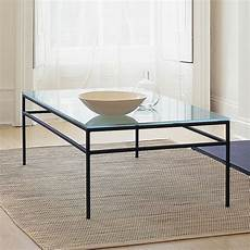 glass and metal coffee table styles