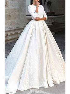 modest wedding gowns with 3 4 sleeves backless sleeve ivory wedding dresses modest 3 4