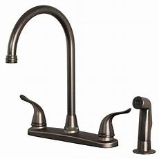 kitchen faucets bronze finish classic high arc swivel kitchen faucet with side spray brushed bronze finish ebay