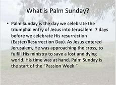 why is palm sunday celebrated