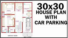 30x30 house plans 30x30 house plan with interior east facing car parking