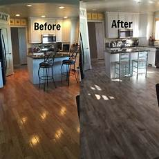 Kitchen Floor Tile Or Hardwood by Flooring Before And After Reveal Wood Looking Tile Real