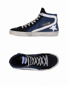 golden goose deluxe brand high tops trainers in blue for