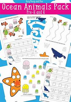 water animals worksheets for kindergarten 14080 animals printables for activities themes crafts