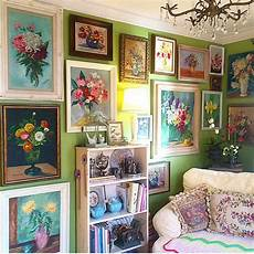 gallery flower wall ideas the floral gallery wall in my den all paintings were from
