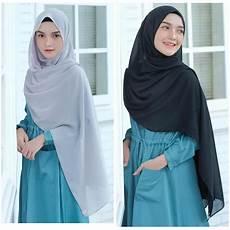 Model Jilbab Pashmina Panjang Voal Motif