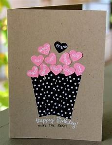 Ausgefallene Geburtstagskarten Selber Basteln - geburtstagskarte f 252 r eine freundin selber basteln mit
