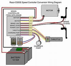 wiring diagram razor e100 electric scooter clipart best
