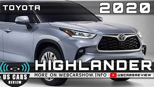 2020 TOYOTA HIGHLANDER Review Release Date Specs Prices