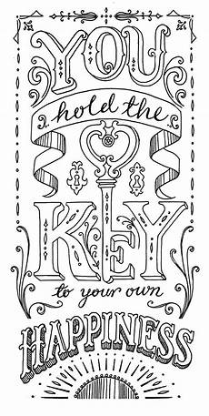 you hold the key to happiness lettering lettering