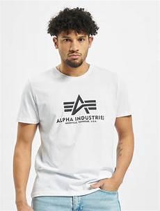 alpha industries herren t shirt basic in wei 223 7844