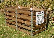 alu holz komposter mit 2 kammern 180 x 90 x 100