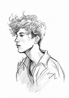 How To Draw Curly Hair On A Boy