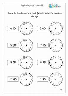 10 best images of clock worksheets year 1 math worksheet