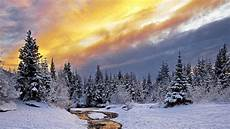 4k wallpaper nature winter winter nature snow landscape river ultra windows mac apple