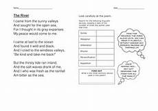 poetry worksheets year 4 25384 the river poem year 4 5 teaching resources