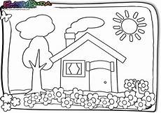 Ausmalbilder Haus Mit Baum Fr 252 Hling Ausmalbilder Malvorlagen F 252 R Kinder